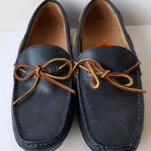 Polo Ralph Lauren blue leather driving loafers 7 D